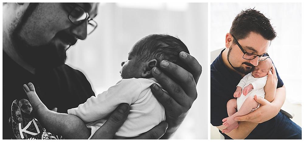 papabilder mit neugeborenem baby