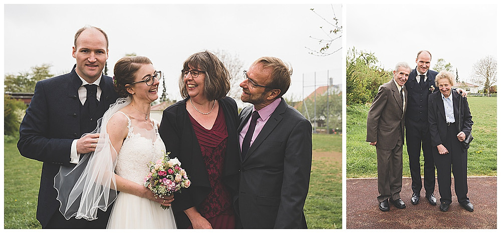 Famiienbilder an Hochzeit