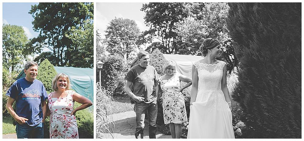 First Look mit den Brauteltern