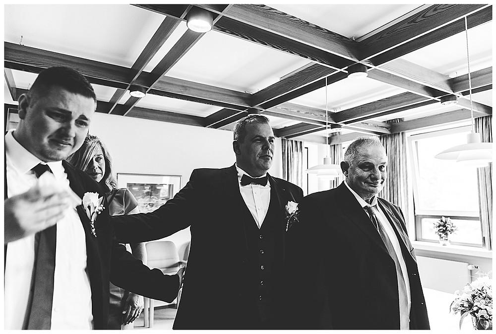 Gratulation nach der Hochzeit im Standesamt Ammersbek