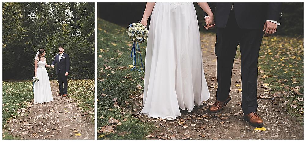 Brautpaarshooting im Park in Biberach