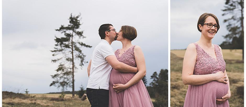 Schwangerschaftsshooting im Felsenmeer