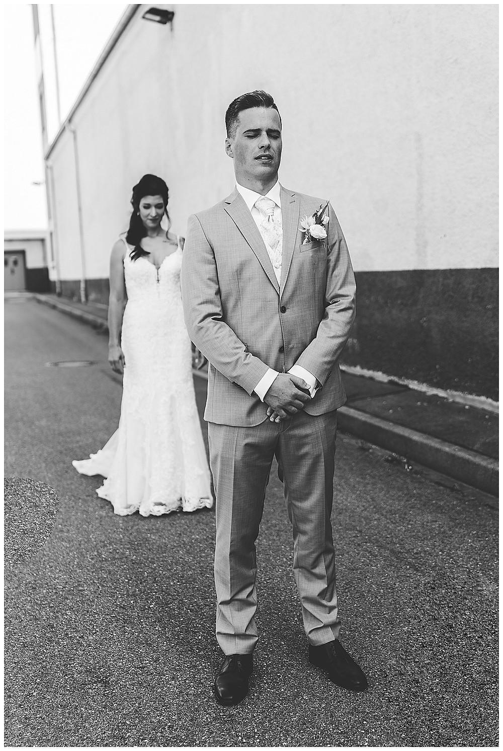 Brautpaar Industriehochzeit
