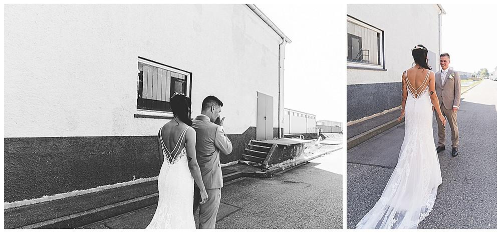 Hochzeitsfotograf Heidenheim First Look Industriegebiet Tränen der Rührung