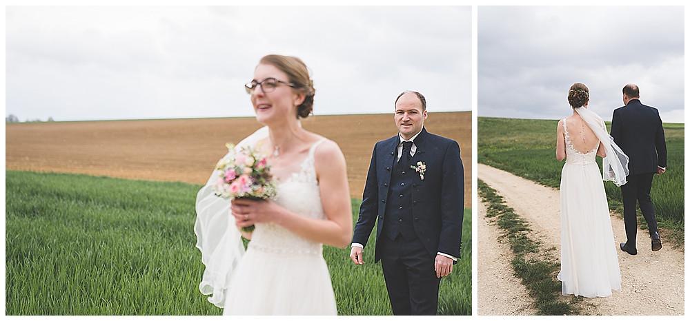 First Look Brautpaar Bräutigam kommt