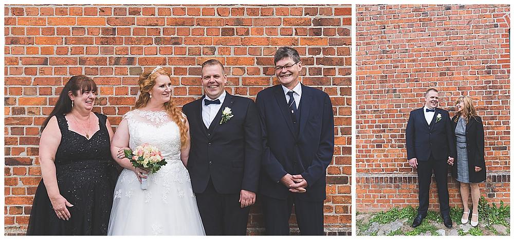 Familienbilder am Hochzeitstag in Ammersbek