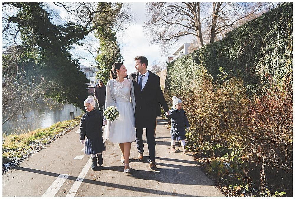Brautpaar Donauufer heiraten