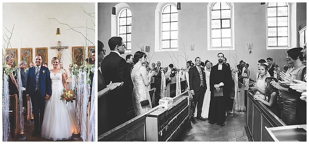 kirchliche Hochzeit Kirche Hürben  Auszug Kirche