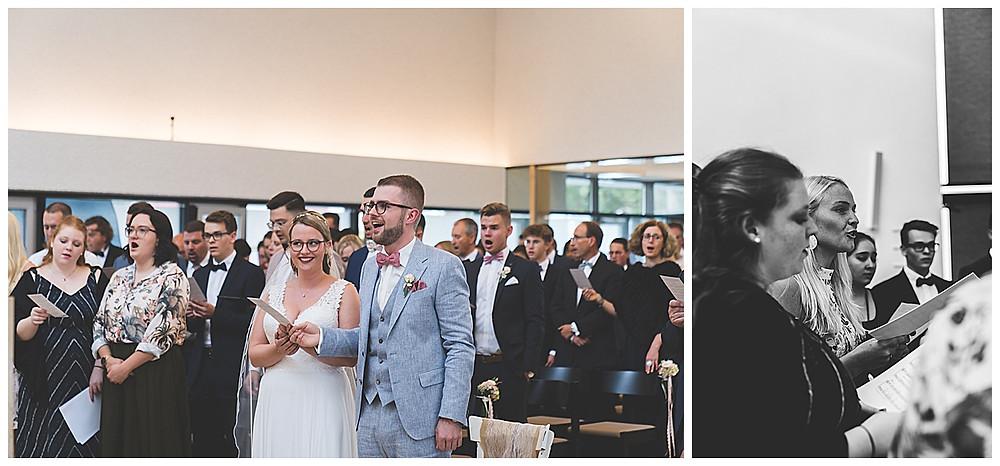 Hochzeit in Stuttgart Gäste singen
