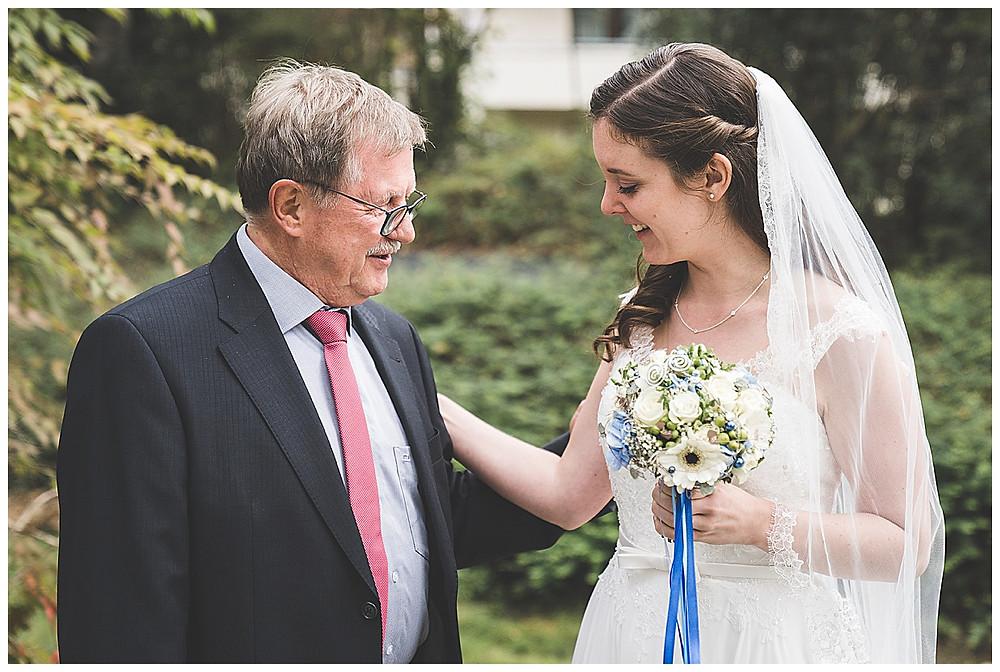 Braut und Schwiegerpapa Fotos