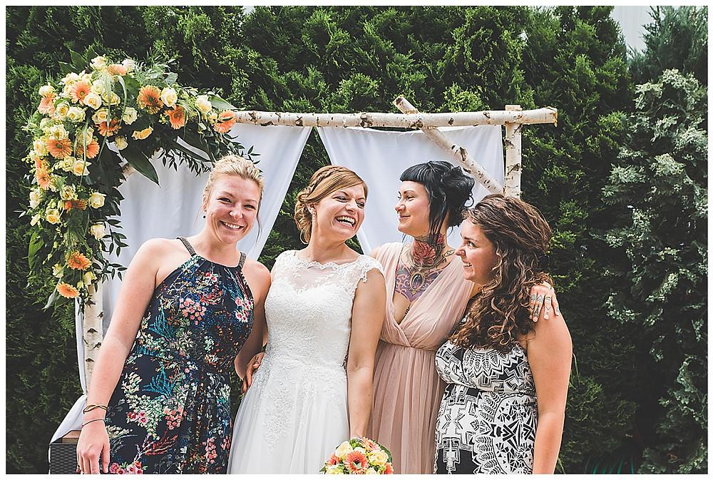 Braut und ihre Mädels in Peiting