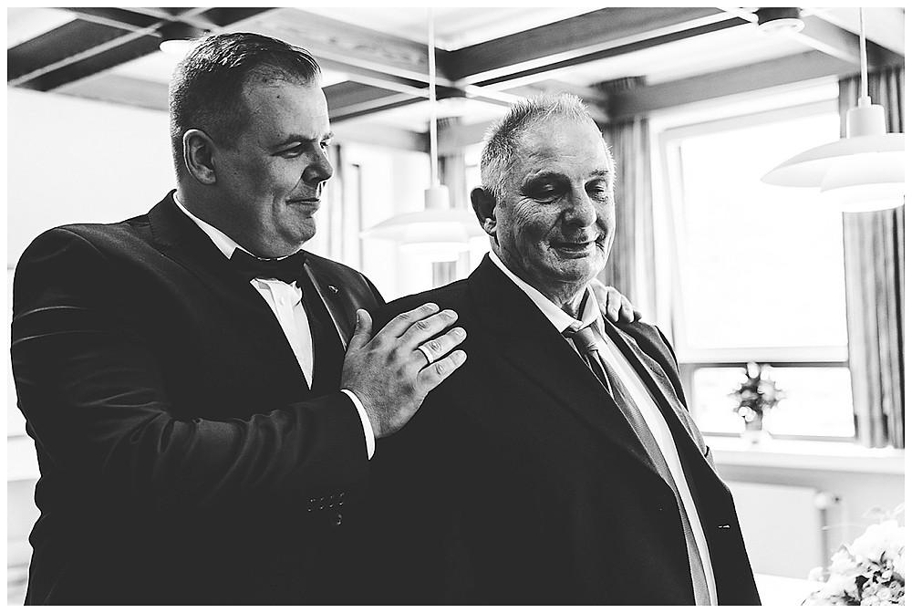 Bräutigam und Papa Gratulation