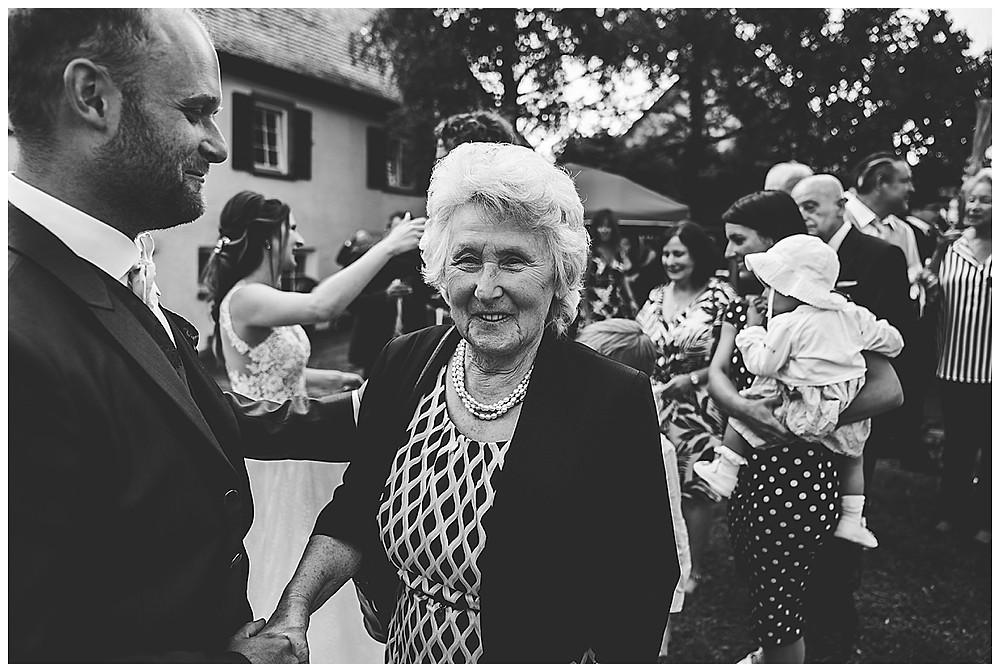 Kirche Scharenstetten Hochzeit Gratulation  Oma Bräutigam