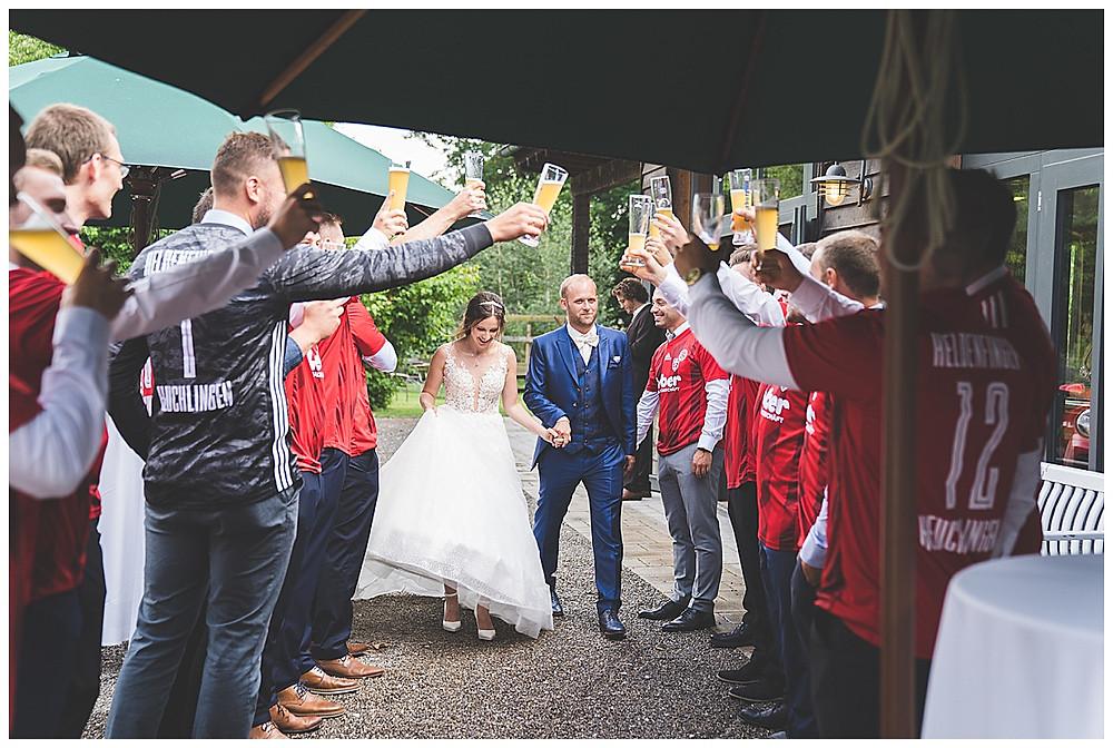 heiraten Waldvogel Leipheim Ankunft Brautpaar