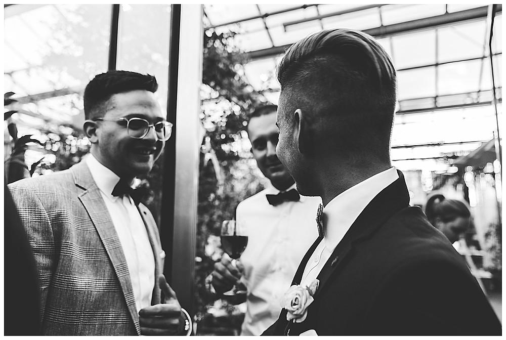 Gäste auf Hochzeit Stuttgart Plan Garten