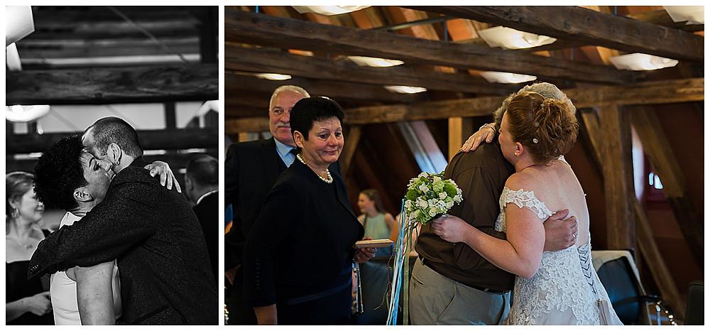 Gratulation des Brautpaares im Standesamt Langenau