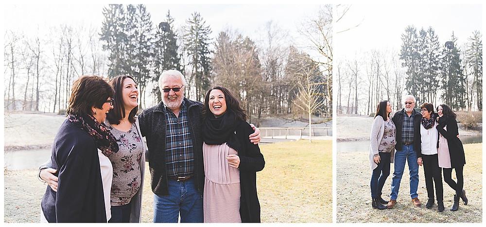 familie umarmt im Park
