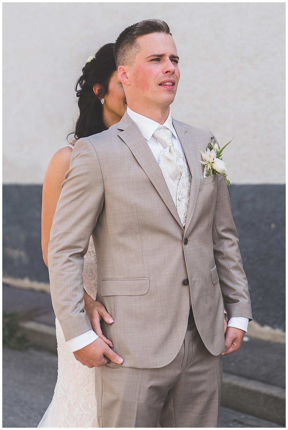 Hochzeitsfotograf Heidenheim  Bolheim First Look