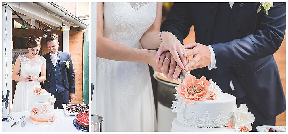 Hochzeitsfotograf Allgäu Tortenanschnitt