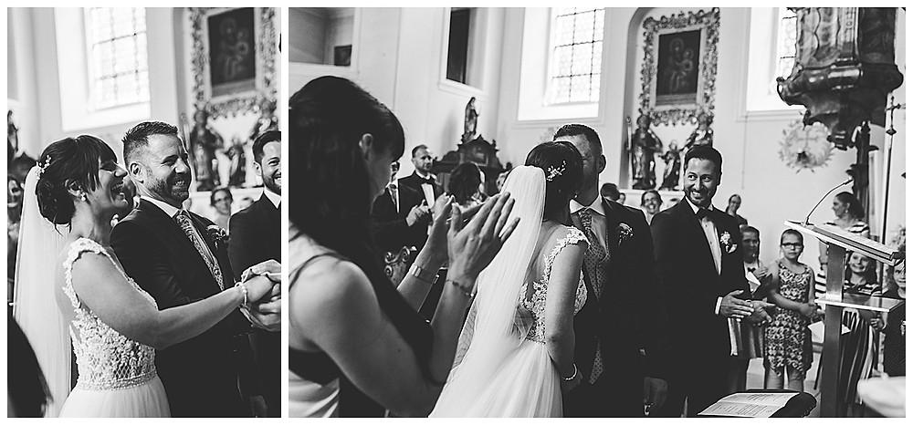 kirchliche Hochzeit Heidenheim Brautkuss