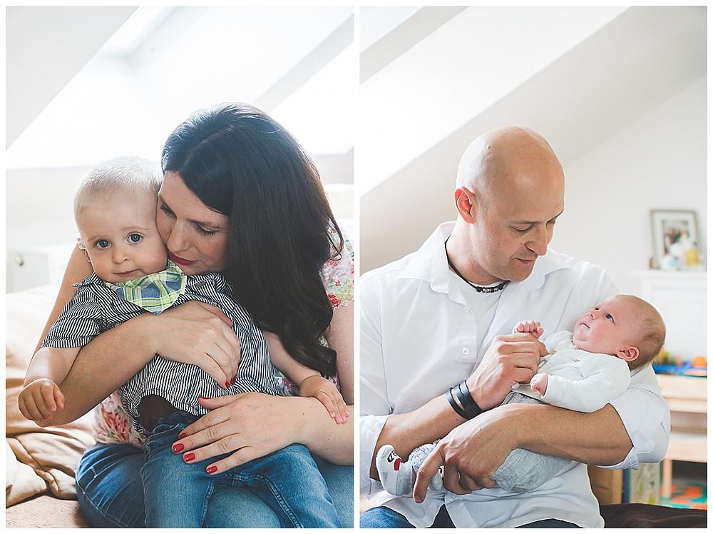 Babyfotografie in Augsburg Eltern und Söhne