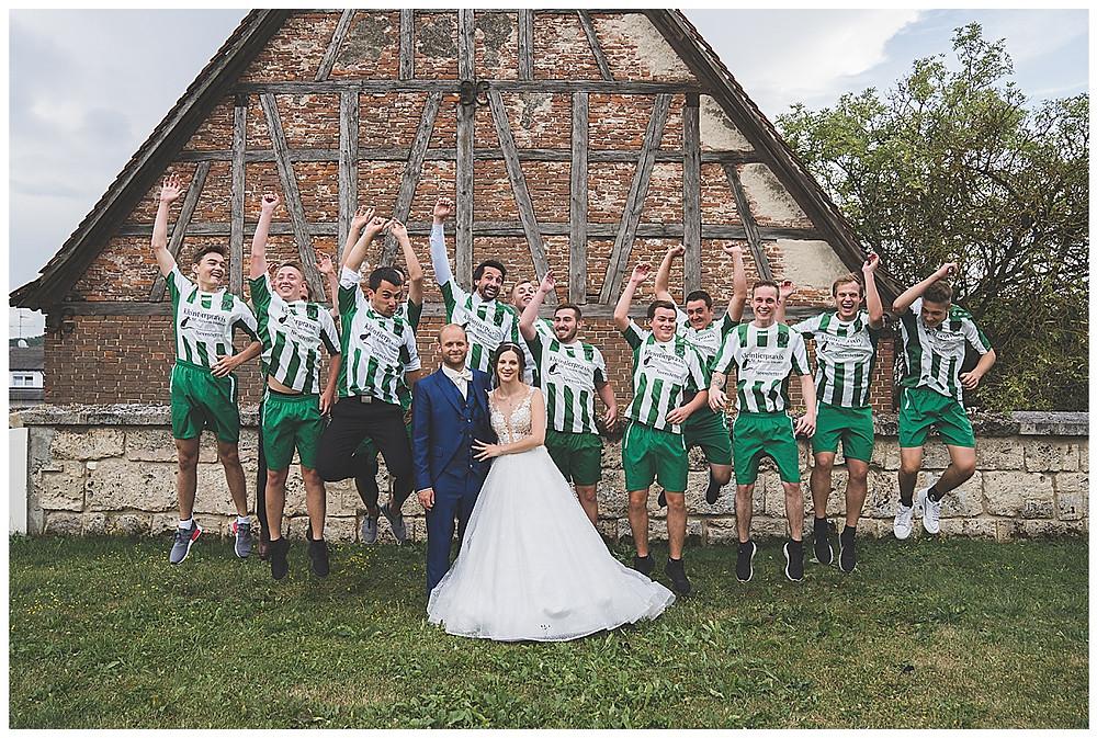 Kirche Scharenstetten Hochzeit Fussballer