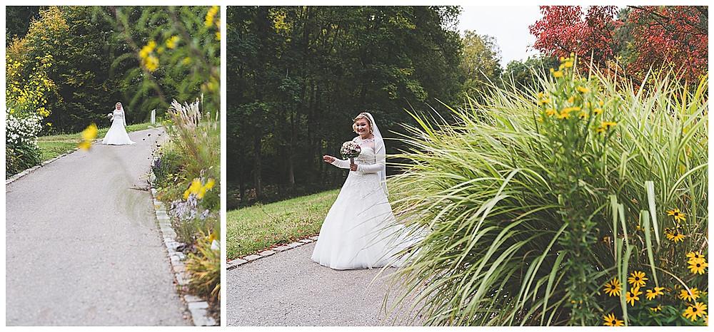 Braut im Botanischen Garten in Ulm
