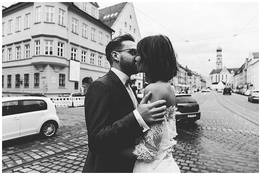 Brautpaarbilder in der Stadt