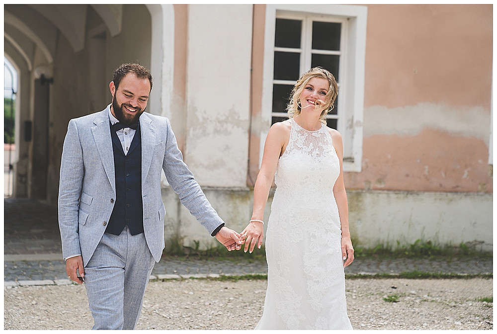 Ehepaar Hand in Hand