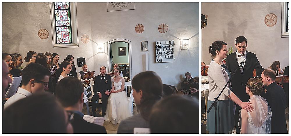 Gemeindechor singt an Hochzeit