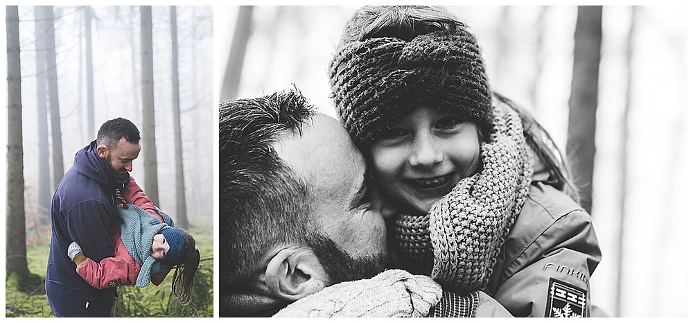 Papa und Tochter kuscheln
