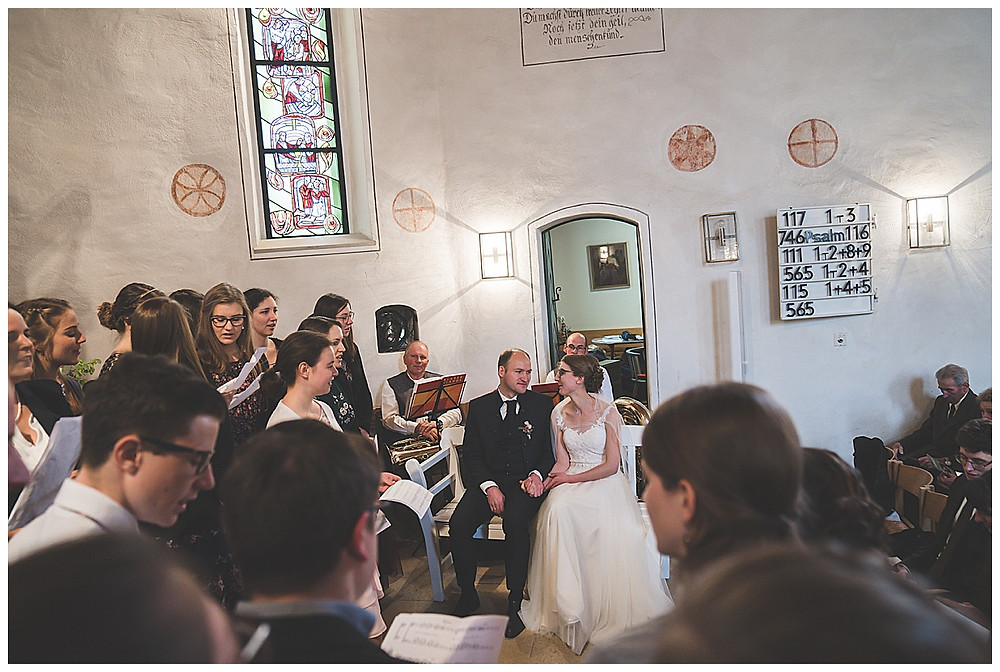 Kirchenchor Öllingen bei Hochzeit