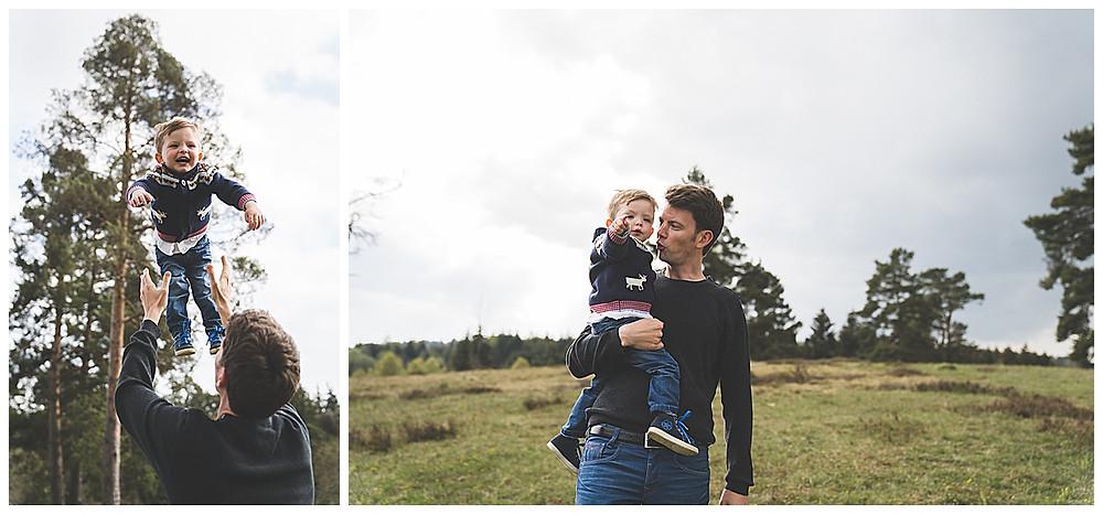 Papa und Sohn im Wental