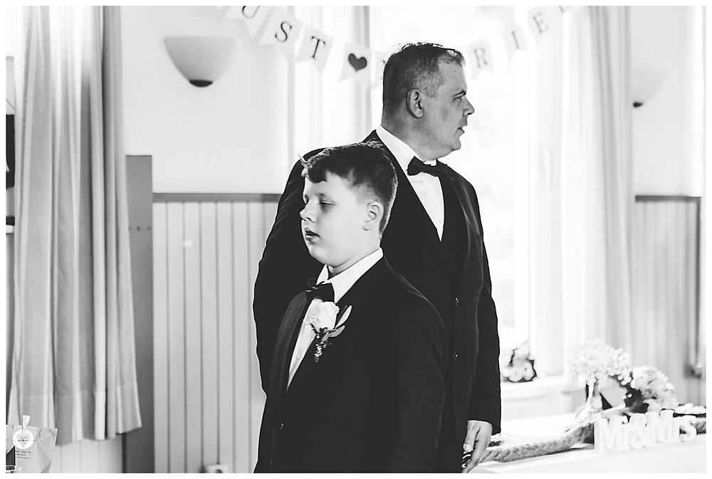 Bräutigam und Sohn