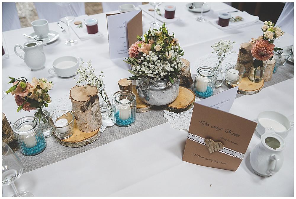 Hochzeitsdekoration Lenderstuben Balzhausen