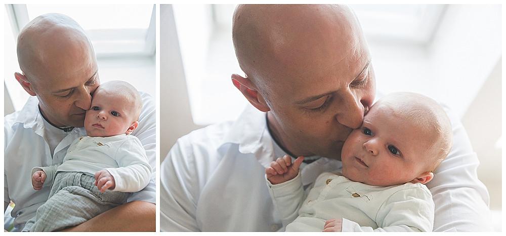 Babyfotografie in Augsburg Papa und sein Sohn
