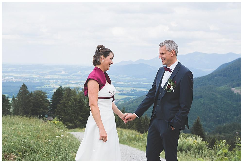Brautpaarfotos in den Bergen