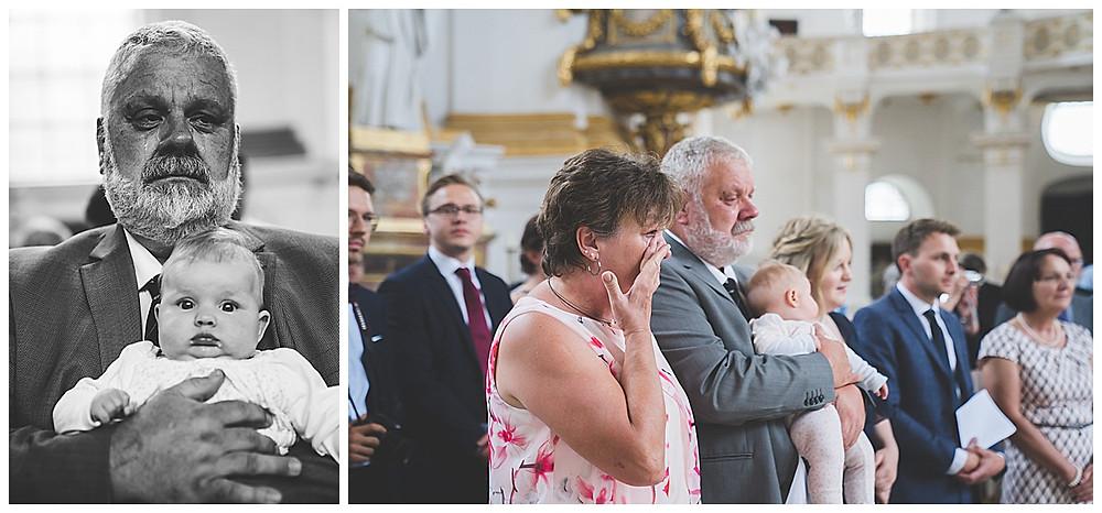 Kirchliche Hochzeit im Kloster Wiblingen  weinender Papa