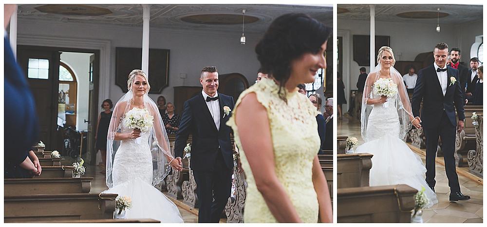 Einzug von Brautpaar in Kirche Augsburg