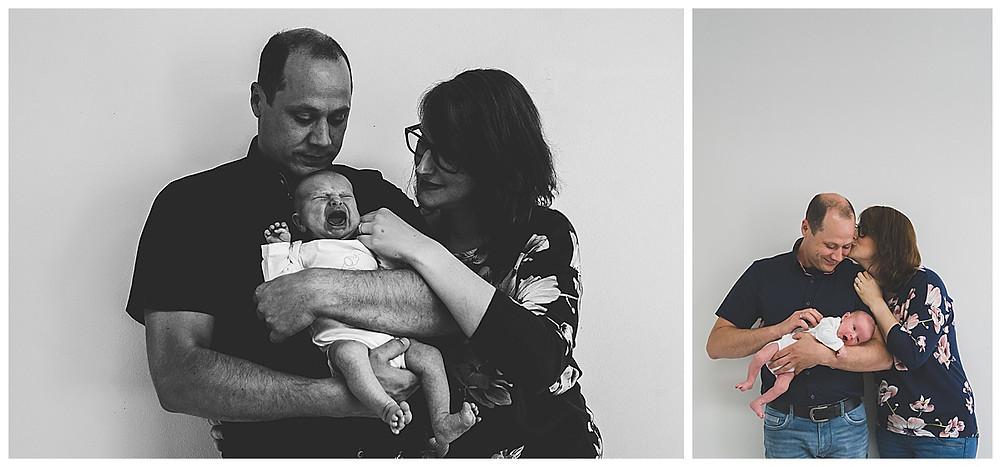 Elternbilder mit neugeborenem