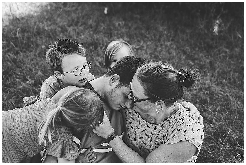Famiienshooting mit vier Kindern