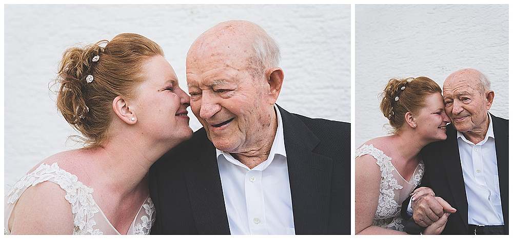 Uropa der Braut kommt umarmen sich hochzeitsfotograf Ulm