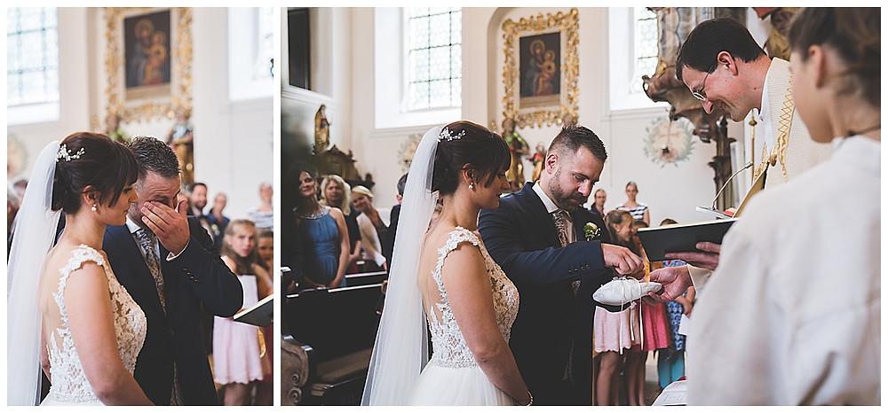 kirchliche Hochzeit Heidenheim ringübergabe