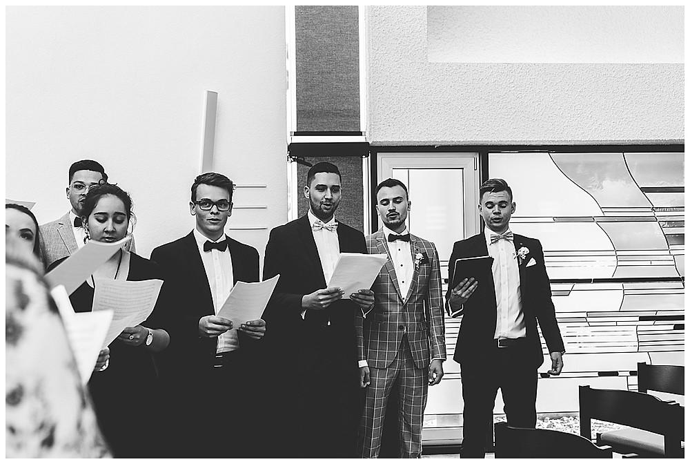 Chor bei Trauung