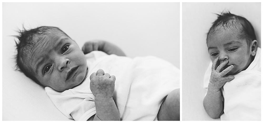 waches Baby beim Fotoshooting