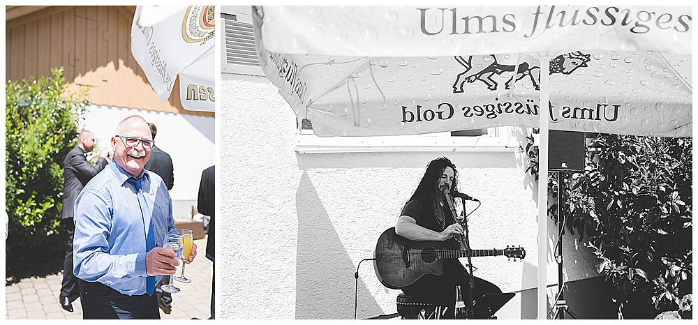 Bernstadt Bären heiraten Sektempfang