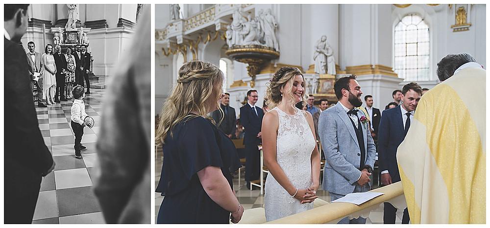 Kirchliche Hochzeit im Kloster Wiblingen  Lachen