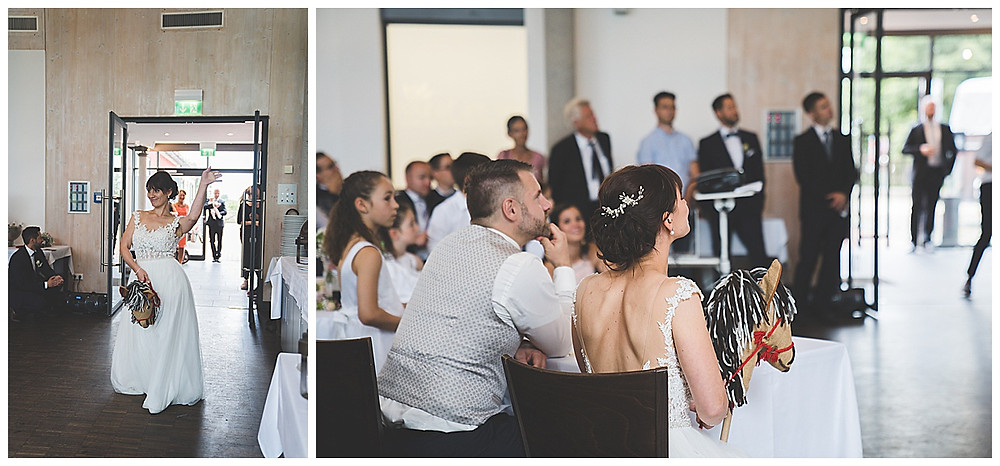 Showeinlage Hochzeit Voltigiergruppe