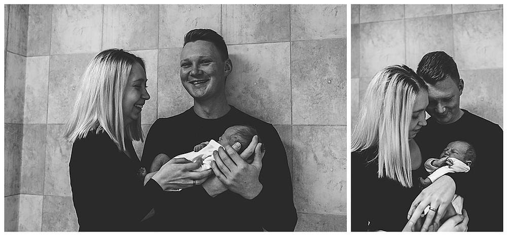Eltern beim Shooting mit Baby
