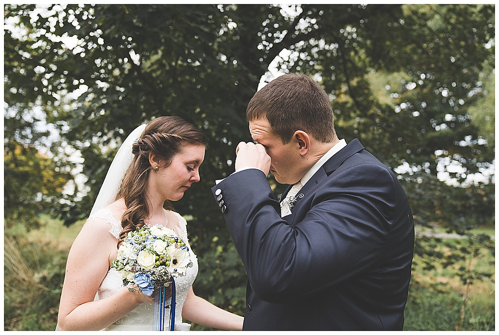 Brautpaar gerührt